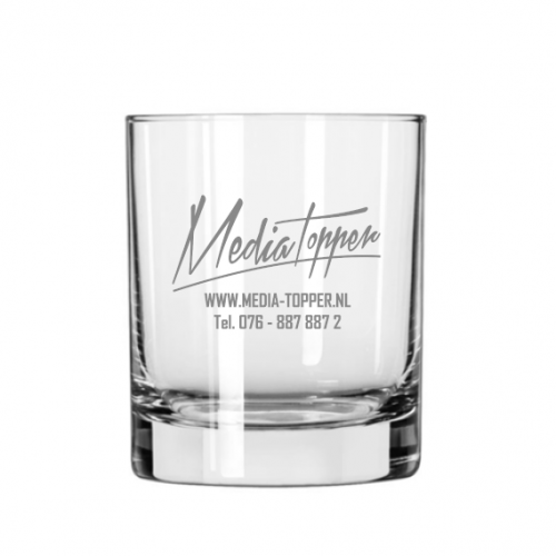 Whiskyglas 21 cl. graveren