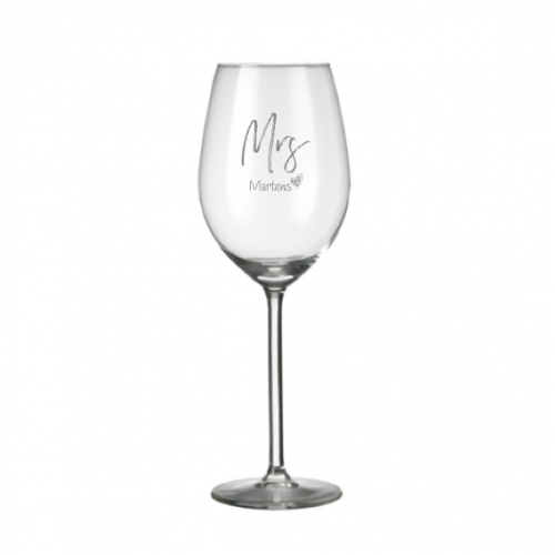 Wijnglas Allure 53 cl. graveren